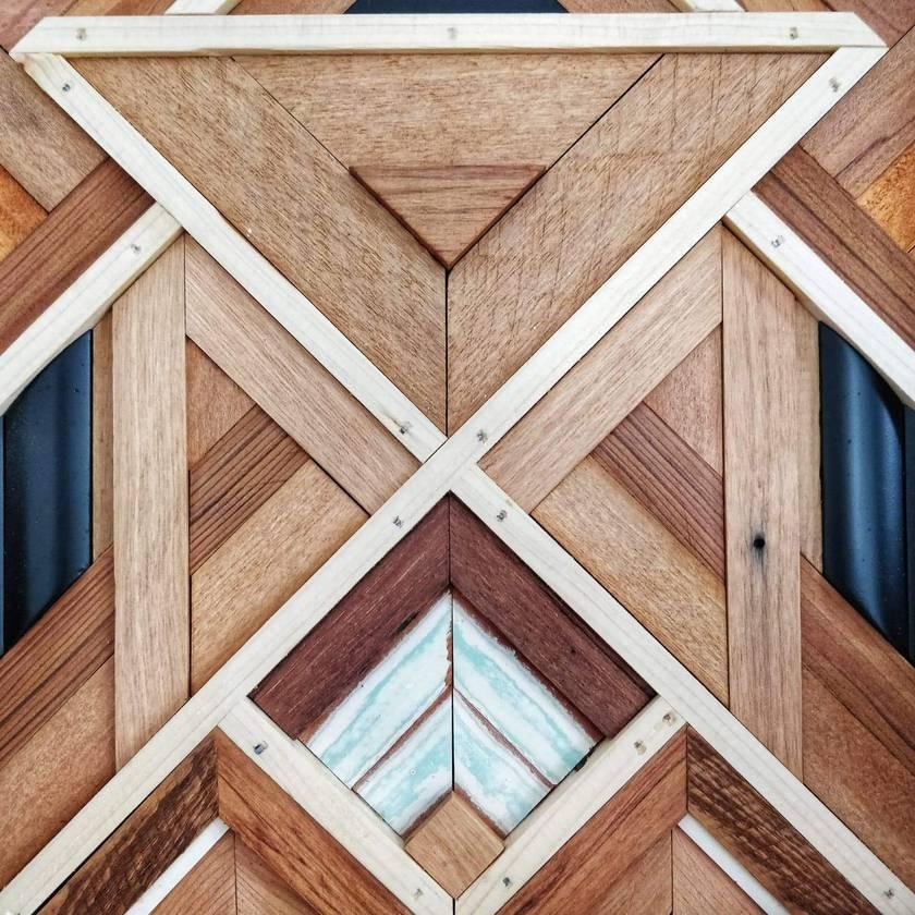 """""""JARRAH"""" -  Repurposed Wood Mosaic Art"""