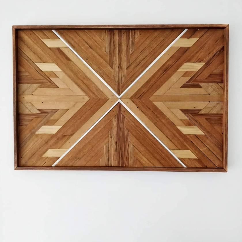 "**SALE! WAS $379.00** ""AMELIA"" -  Repurposed Wood Mosaic Art"