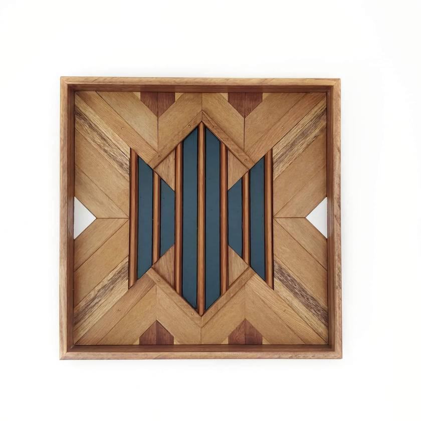 """""""HARGRAVE"""" -  Repurposed Wood Mosaic Art"""