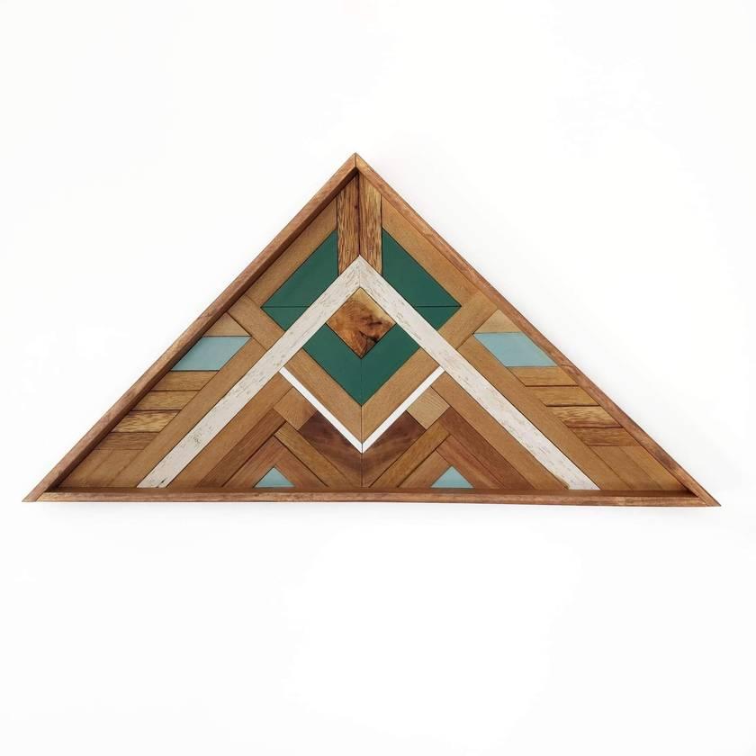 """BRYSON"" -  Repurposed Wood Mosaic Art"