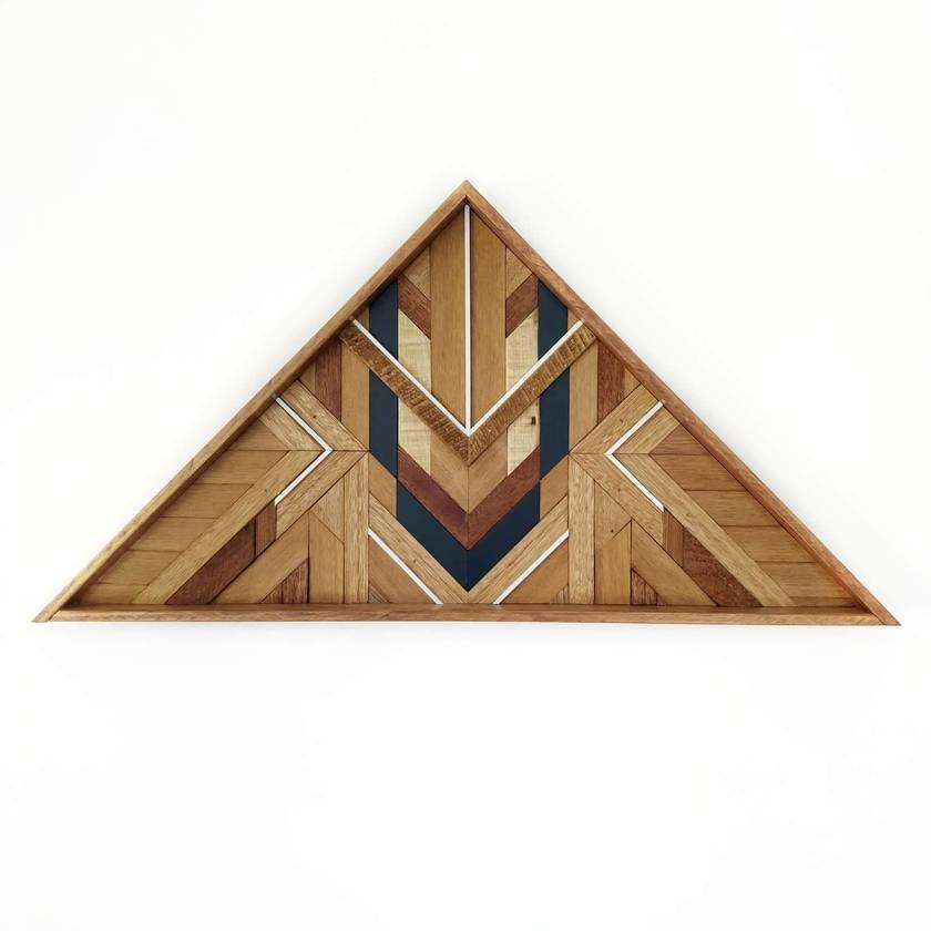 """""""CASH"""" -  Repurposed Wood Mosaic Art"""