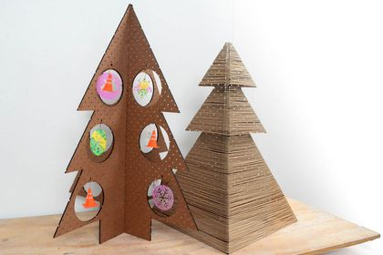 Flat Pack Zero Waste Christmas Tree Set of two