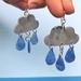 Recycled Rain Cloud Earrings
