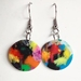 Recycled Plastic Conic Earrings