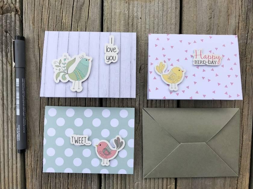 Bird Themed Greeting Cards