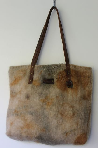 upcycled, eco dyed - large tote