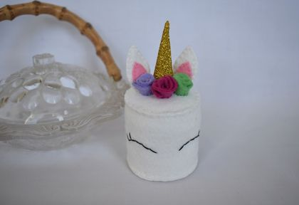 Mini Unicorn Cake, Felt Food