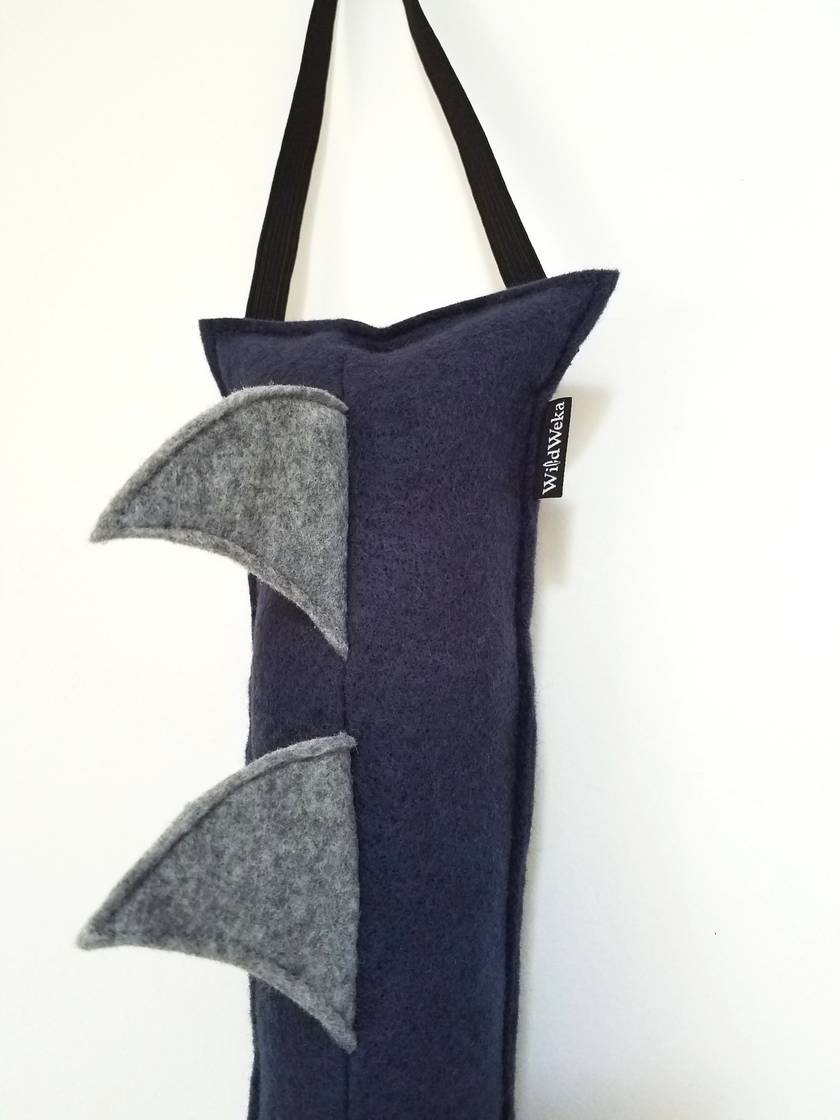 Dragon kids felt tail - BLUE with grey spines