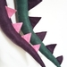 Dinosaur kids felt tail - Sage with purple spines