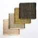 Upcycled coasters - set of 4 green coloured