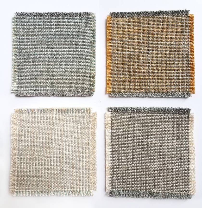 Upcycled coasters - set of 4 assorted colours