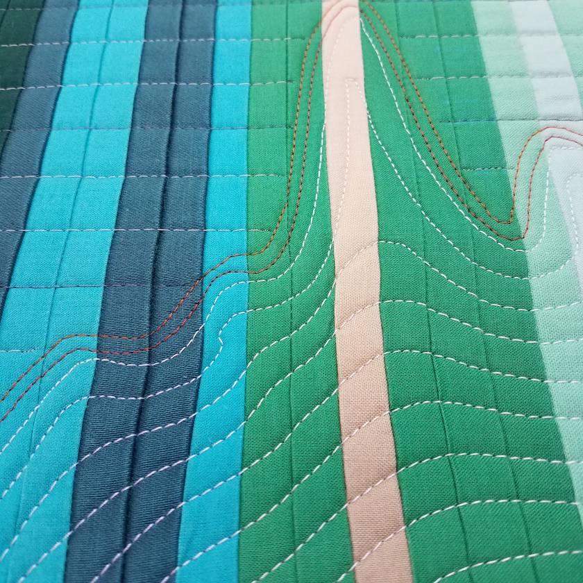 Mini quilt, climate change quilt