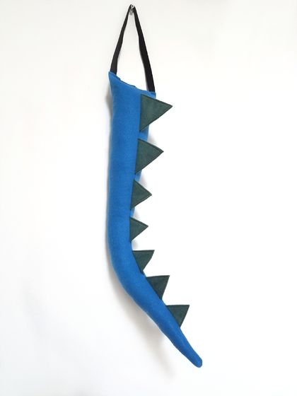 Dinosaur kids felt tail - Blue with SAGE spines