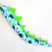Dinosaur kids tail - Dino print with Bright Green spines