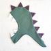 Kids dinosaur Hood - SAGE with purple spines