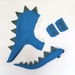 Kids dinosaur costume set - tail, hood and cuffs - Blue with Sage spines
