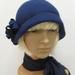 Garbo - Art Deco Style Cloche Hat - Blues