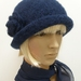 Hand-Felted Wool Cloche Hat - Blues & Purples