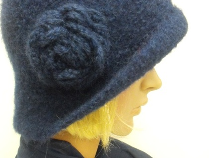 Hand-Felted Wool Cloche Hat