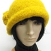 Hand-Felted Wool Cloche - Yellow/Orange/Green