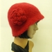 Hand-Felted Wool Cloche Hat - Reds & Purples