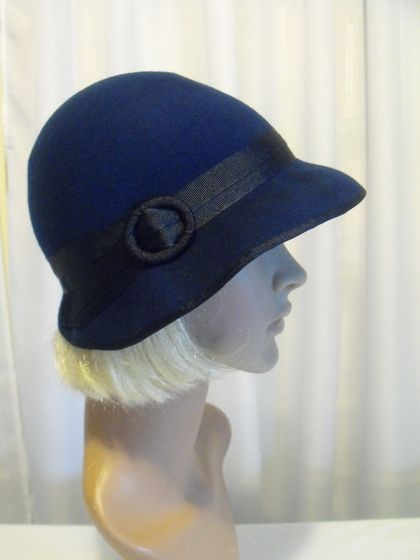 Sybil 1920s Style Wide Brimmed Hat