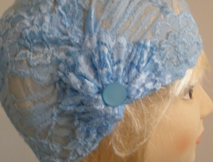 Art Deco Style Stretch Lace Turban