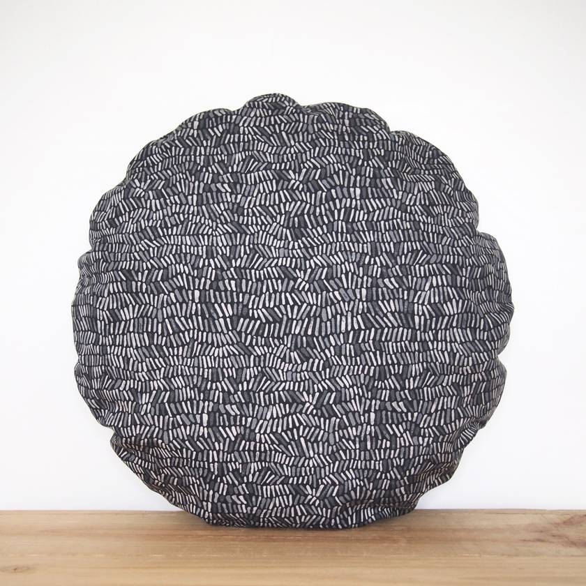 Grey Round Cushion Cover