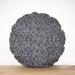 Grey Round Cushion Cover