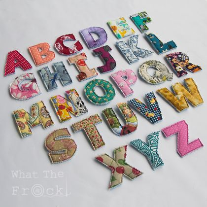 Soft Fabric Alphabet Letters