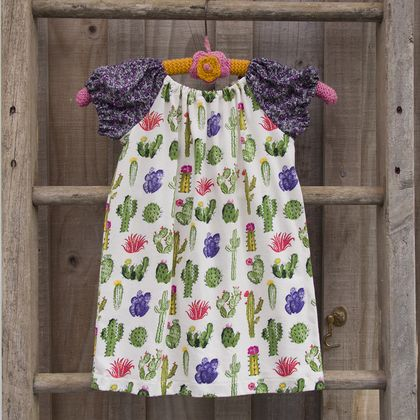 Peasant dress - prickly cactus