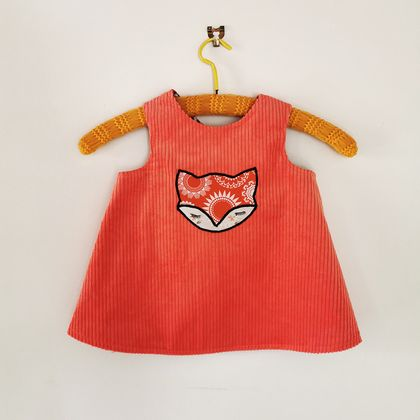 Foxy in Orange - Reversible Pinafore Frock