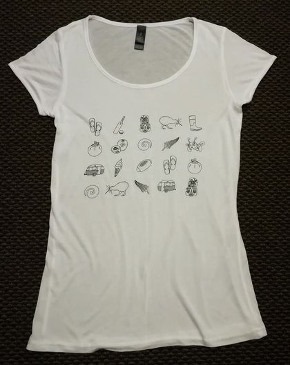 Women's Kiwiana print T-shirt - Small