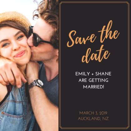 20 x Personalised Save the Date Magnets