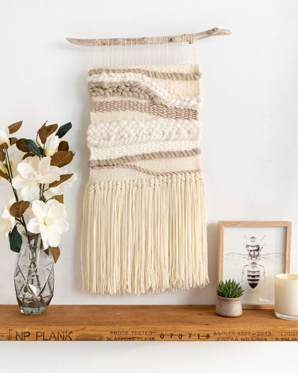 Neutral Medium Woven Hanging