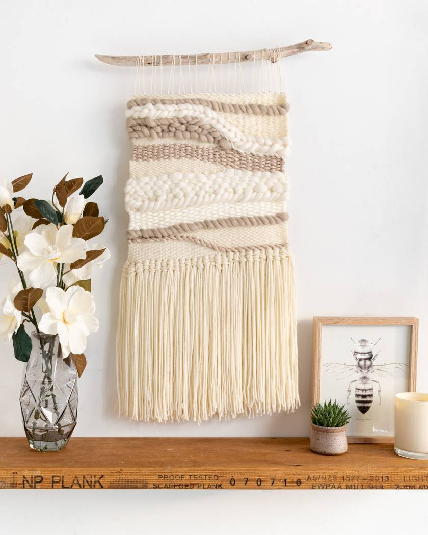 Neutral Medium Woven Hanging
