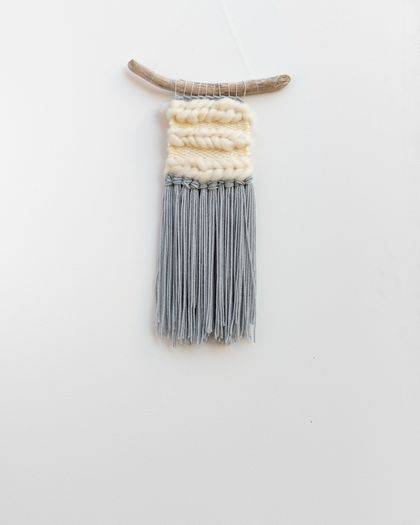 Cloud Grey/White Woven Wall Hanging