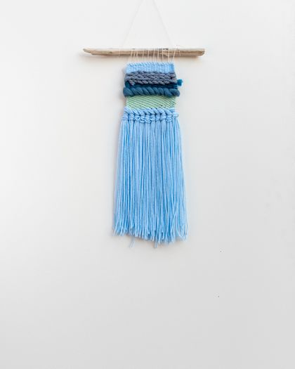 Blue toned Woven Wall Hanging