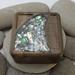 SALE 50% OFF NZ Made Rimu River Wood Square Plain Box large - Paua River Lid