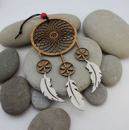 Laser cut Eco-friendly Bamboo Dreamcatcher