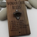 NZ Made Rimu River Wood Wall Mounted Bottle Opener -  Woman Cave Rules...........