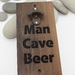NZ Made Rimu River Wood Wall Mounted Bottle Opener - Man Cave Beer