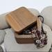 SALE - NZ Made Rimu Riverwood Square Plain Box medium  - Flat Lid