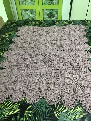 Antique Lilac Baby Blanket