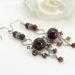 Silver and tigers eye gemstone earrings