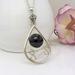 Garnet teardrop pendant in sterling silver