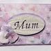 Mum lilac floral greeting card