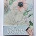 Mum blue floral greeting card