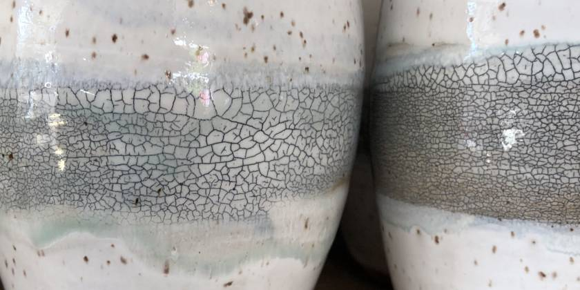 Crackle Slip Beaker