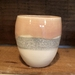 Pink and white crackle beaker